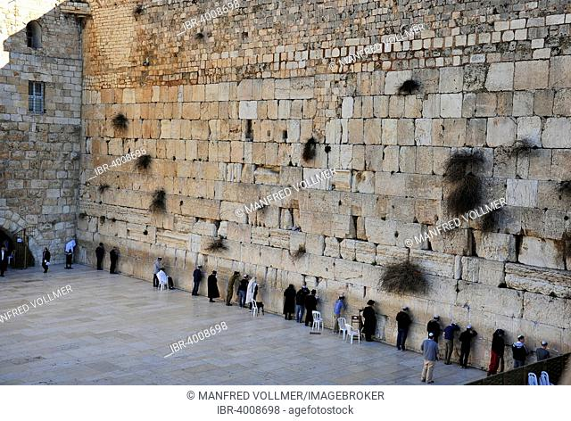 The Wailing Wall in the Old City, Jerusalem, Israel