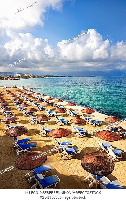 Beach in Kusadasi, Aydin Province, Turkey