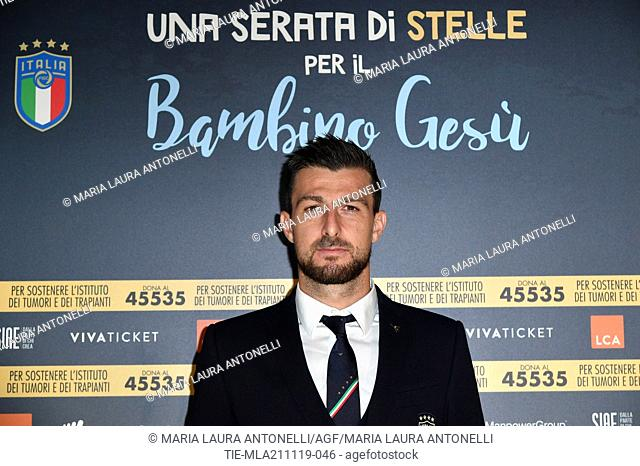 Football player of Lazio Francesco Acerbi during the charity show ' Una serata di stelle' for the Hospital Bambino Gesu', Paul VI Hall, Vatican City