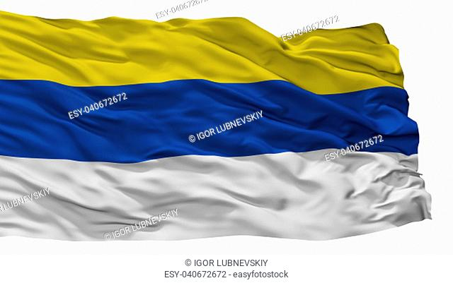 Peumo City Flag, Country Chile, Isolated On White Background