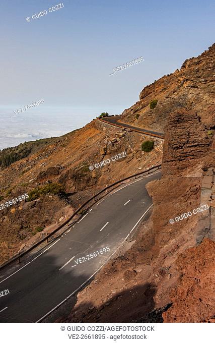 Canary Islands (Spain), La Palma. Caldera de Taburiente National Park, view from Roque do los Muchachos (2426 mt)