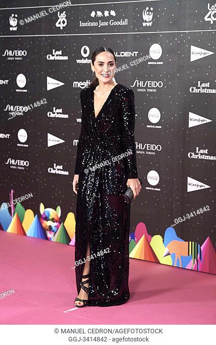 Tamara Falco attends Los 40 Music Awards at Wizink Center on November 8, 2019 in Madrid, Spain