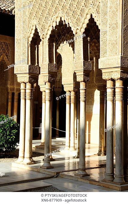 Moorish architecture, Alhambra, Granada, Spain