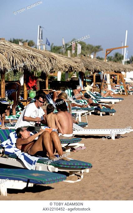 Dahab Beachfront, Egypt. The Resort On The Sinai Peninsular Has Become A Favourite Destination For Year Round Windsurfing