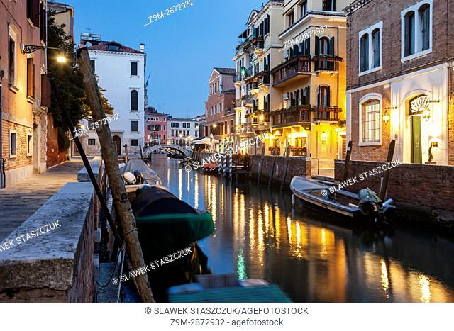 Evening in Dorsoduro district of Venice, Italy