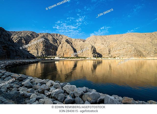 Fjords of the Musandam coast along the Persian Gulf, near Khasab, Oman