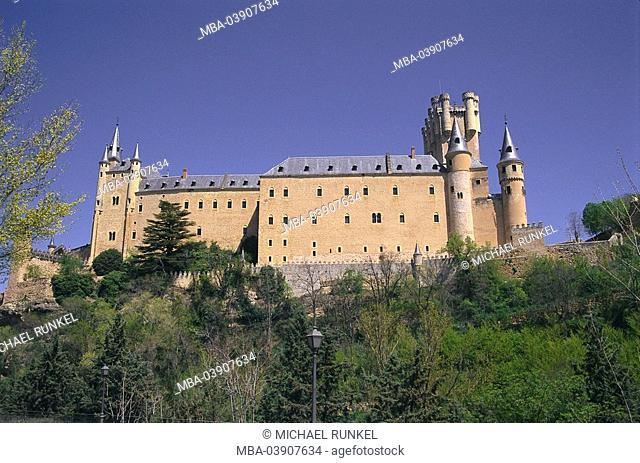 Spain, region Kastilien-Leon, Segovia, castle Alcazar, Iberian peninsula, rock-plateau, construction, historically, architecture, fortress, bulwark