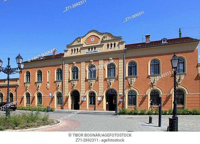 Hungary, Vác, Vac, Railway Station,