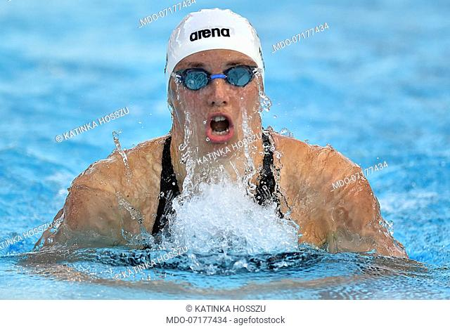 Hungarian swimmer Katinka Hosszu win gold medal 200m individual medley at swimming stadium Foro Italico. Rome (Italy) June 23th, 2019