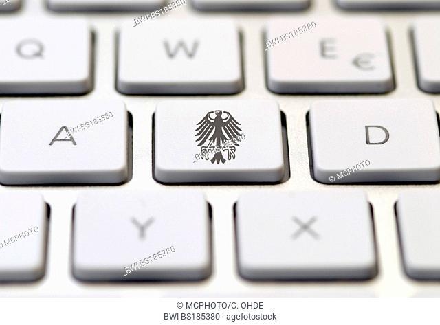 computer keyboard with federal eagle key