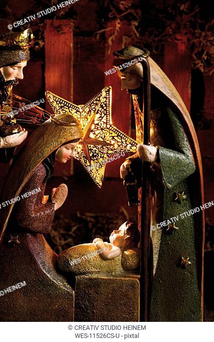 Christmas decoration, nativity scene