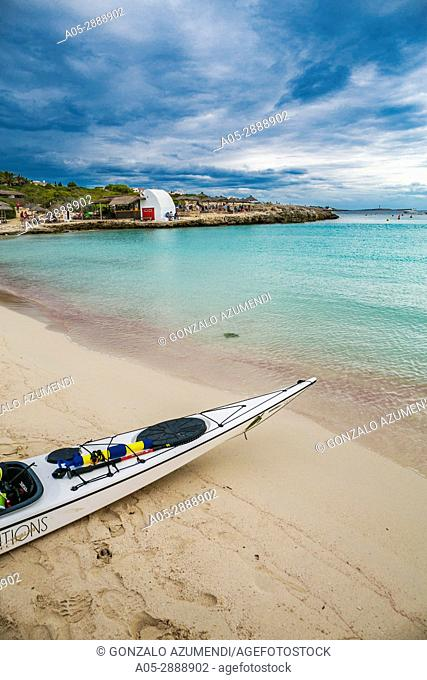 Cala Binibequer Beach. Sant Lluis Municipality. Minorca. Balearic Islands. Spain