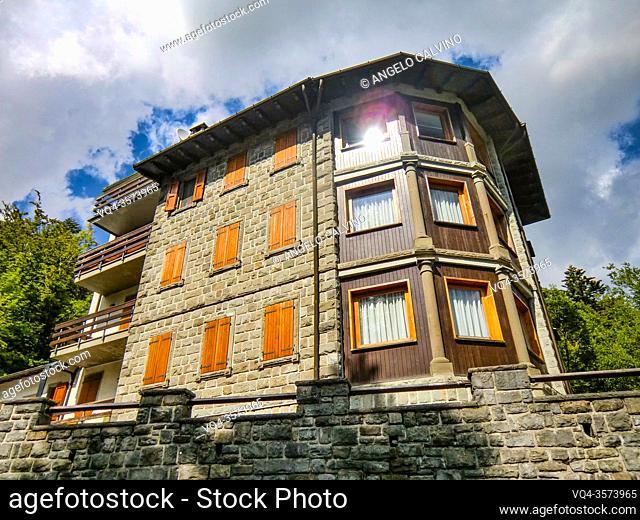 view of Abetone, Passo dell Abetone, province of Pistoia, Apennines, Tuscany, Italy, Europe