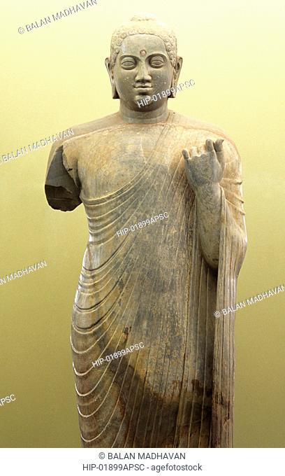 STANDING BUDDHA IN NAGARJUNAKONDA MUSEUM, ANDHRA PRADESH,INDIA