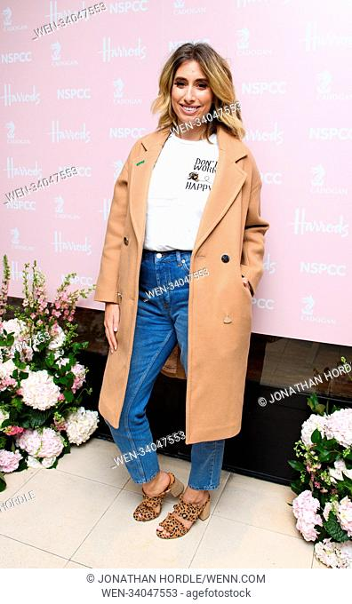 fashion retold pop up store in aid of the Nspcc Featuring: Stacey Solomon Where: London, United Kingdom When: 12 Apr 2018 Credit: Jonathan Hordle/WENN