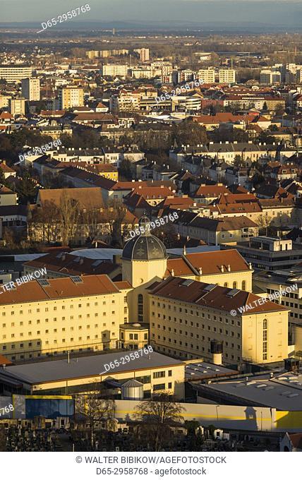 Austria, Lower Austria, Krems an der Donau, elevated city view, late afternoon
