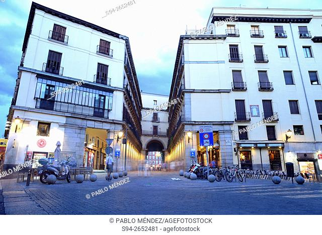 Entrance to Main square of Madrid, Spain