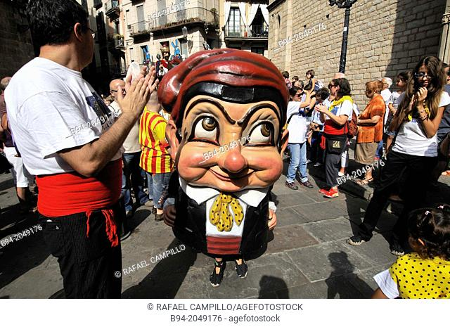 La Merce feast day (September 24), Barcelona, Catalonia, Spain