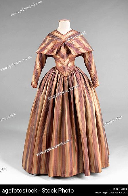 Visiting dress. Date: 1845-50; Culture: American; Medium: silk; Credit Line: Brooklyn Museum Costume Collection at the museum, Gift of the Brooklyn Museum