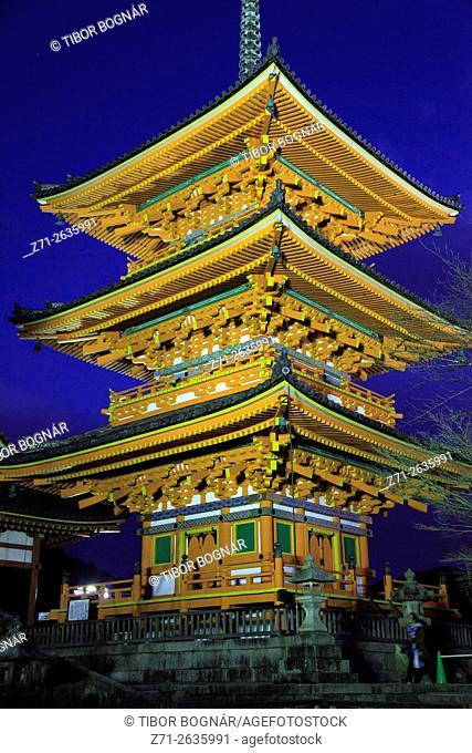 Japan; Kyoto, Kiyomizu Temple, pagoda,