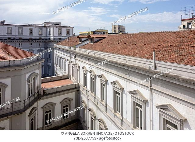 Roofs of Naples, Italy