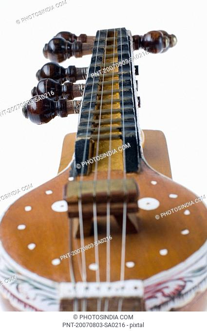 Close-up of a sitar