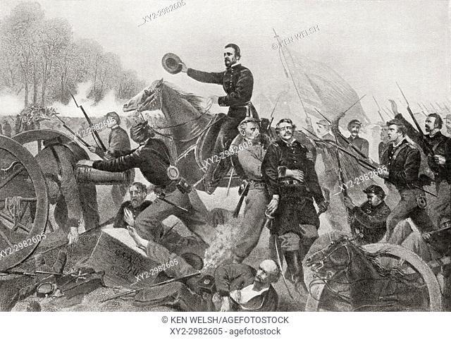 The Battle of Spotsylvania Court House, aka the Battle of Spotsylvania or Spottsylvania. Second major battle in Lt. Gen. Ulysses S