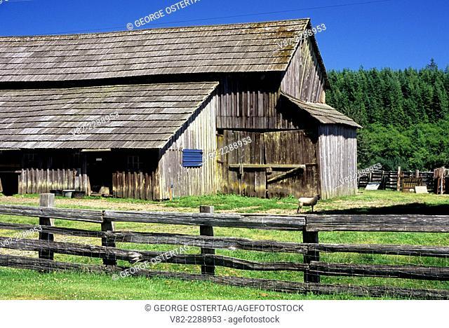 Barn, Cowan Ranch State Heritage Area, Clallam County, Washington