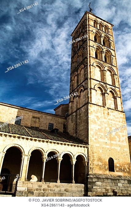 Bell tower of the Romanesque church of San Esteban - XIII Century - Segovia - Castilla-León - Spain - Europe