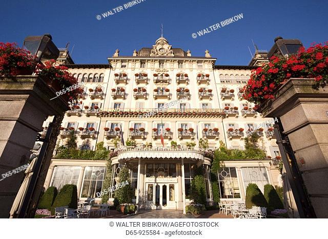 Italy, Piedmont, Lake Maggiore, Stresa, Grand Hotel des Iles Borromees, morning