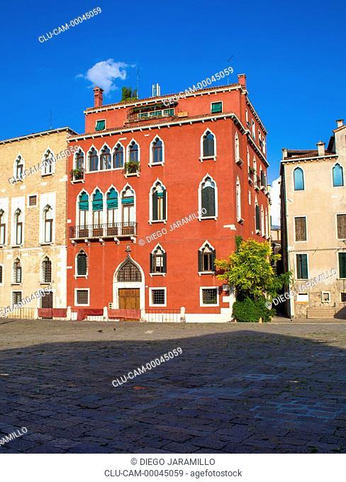 Campo San Polo Buildings, San Polo, Venice, Veneto, Italy, Western Europe