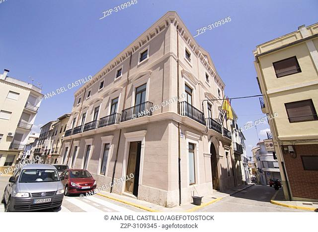 Enguera town Valencian Community. Spain. The city hall building
