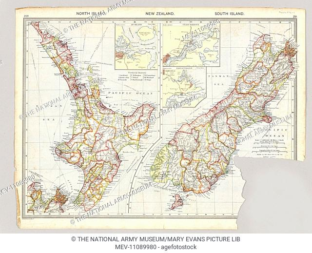Two maps of Taranaki, New Zealand showing Middlesex Regiment operations during the Maori War, 1860-1872. From the collection of the former Middlesex Regiment...
