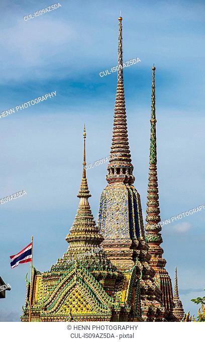 Towers of the Wat Pho temple, Bangkok, Thailand