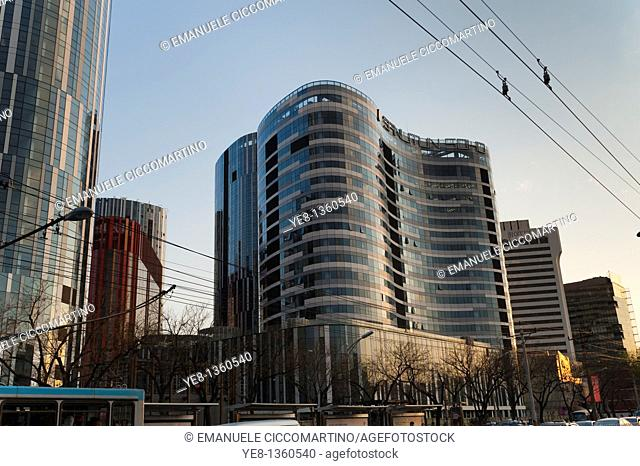 Sanlitun Soho Kaiheng Center office and apartment complex by architect Kengo Kuma, 2010, Beijing, China, Asia