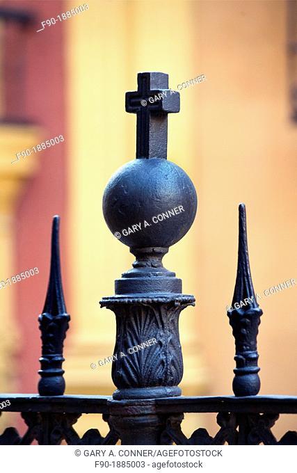 Detail of railing-Cathedral-Malaga-Spain