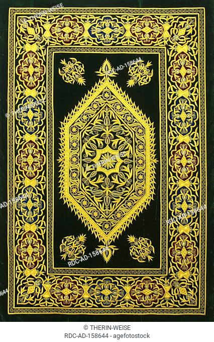 Textile embroidered in gold and silver Museum of Applied Arts Tashkent Uzbekistan clothes
