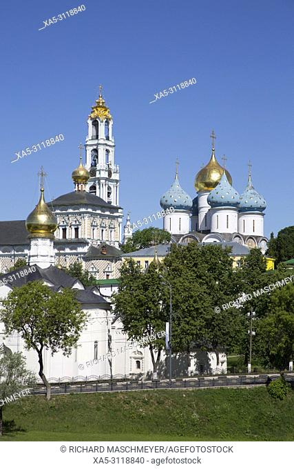 Overview, The Holy Trinity Saint Serguis Lavra, UNESCO World Heritage Site, Sergiev Posad, Golden Ring, Russia