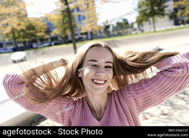 Portrait of young woman. Munich, Germany