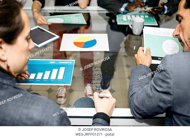 Creative business people having a meeting in office