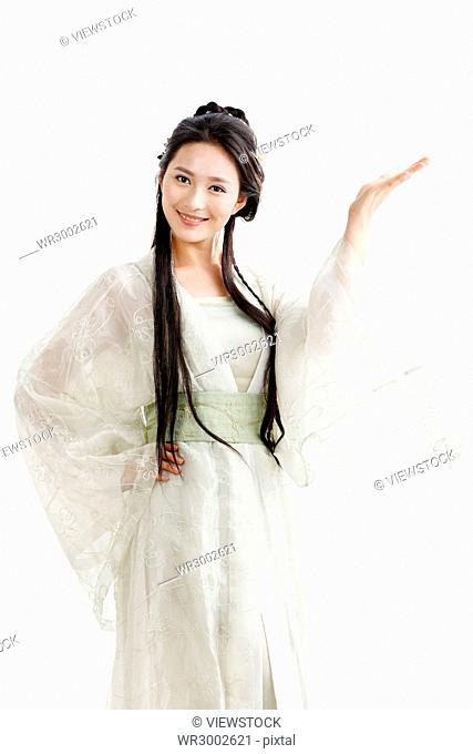 A beautiful woman in ancient costume