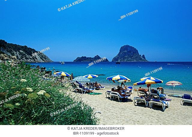 Cala d'Hort ant Es Vedra Island, Ibiza, Balearic Islands, Spain
