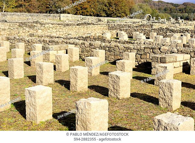 Aquis Querquenis. Roman ruins near Bande, Orense, Spain