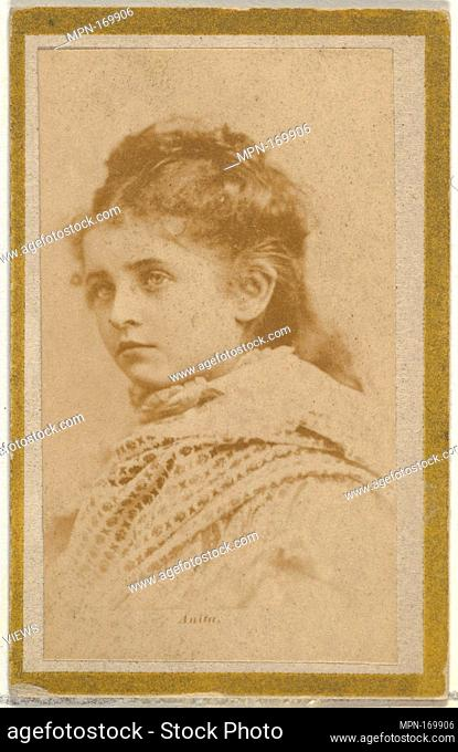 Anita, from the Actresses and Celebrities series (N60, Type 2) promoting Little Beauties Cigarettes for Allen & Ginter brand tobacco products