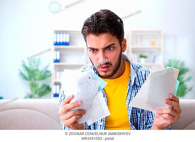 Man angry at bills he needs to pay