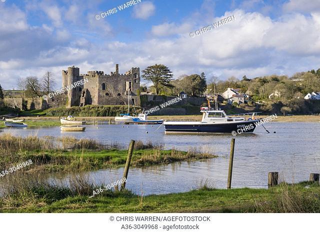 Laugharne Castle Laugharne Carmarthenshire Wales