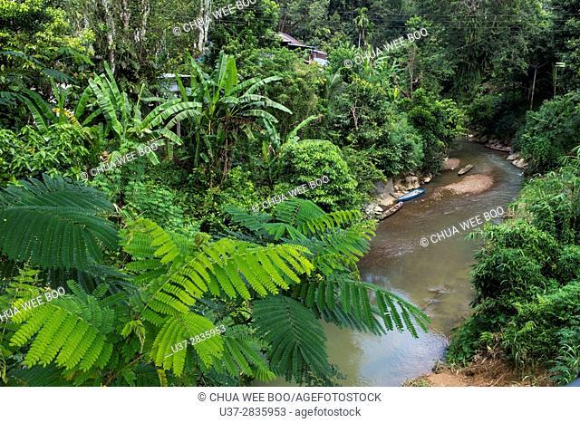 A stream at Kampung Bengoh, Sarawak, Malaysia