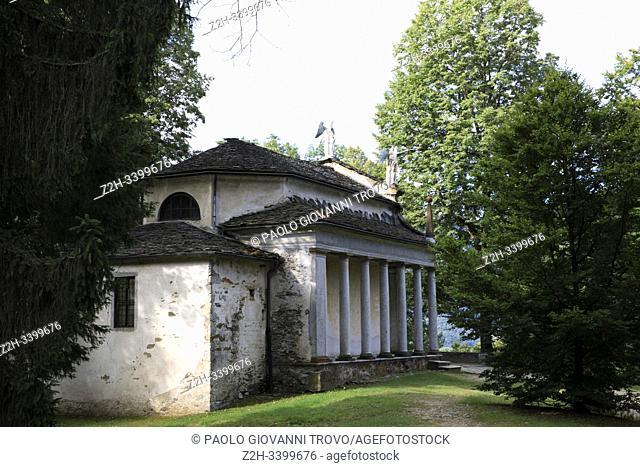 Sacro Monte Calvario chapel, Orta, Novara, Piedmont, Italy