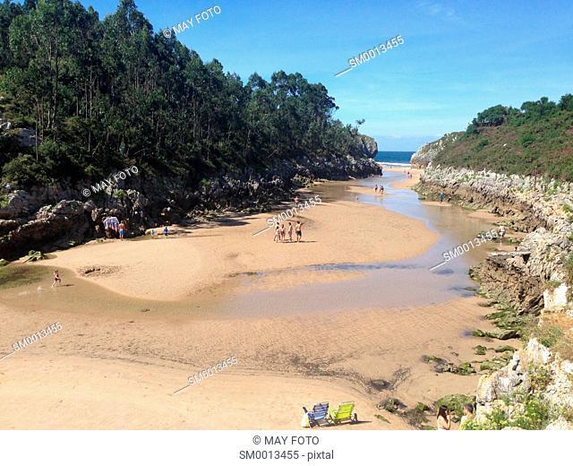Guadamía beach, Llanes, Asturias, Spain