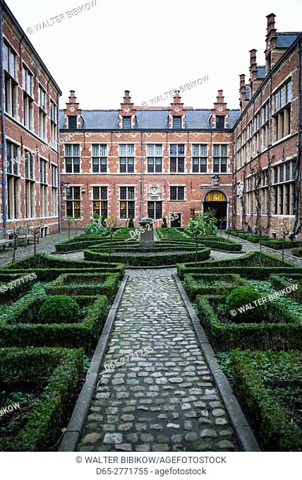 Belgium, Antwerp, Museum Plantin-Moretus, museum at the world's first industrial printing works, courtyard view